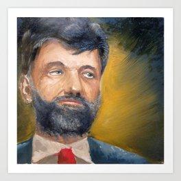 Portrait, oil painting, #MVCR Art Print