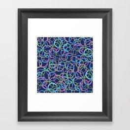 Round Around Framed Art Print