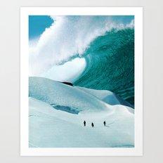 White Wall Art Print
