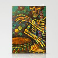 drums Stationery Cards featuring Death Drums by Sherdeb Akadan