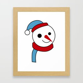 merry christmas vector desiagn Framed Art Print