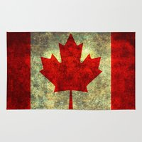 canada Area & Throw Rugs featuring Oh Canada! by Bruce Stanfield