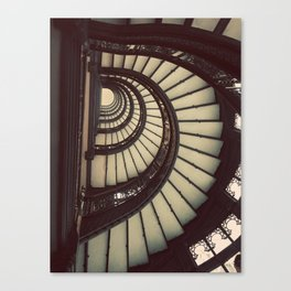 Chicago Rookery Building Staircase Color Photo Canvas Print