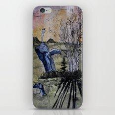 Blue Breaching Whale  iPhone & iPod Skin