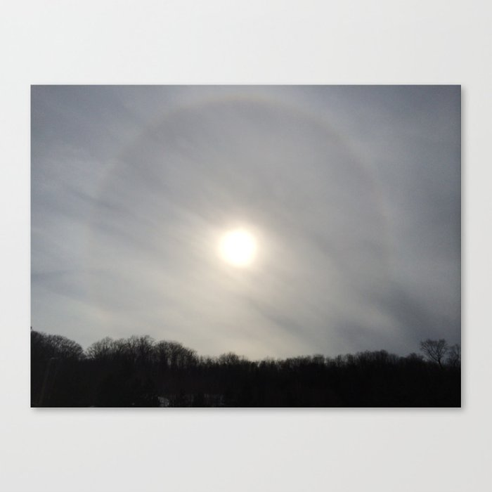 Cloudy Corona Canvas Print