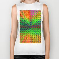 psychedelic Biker Tanks featuring Psychedelic by Debbie Clayton