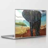 african Laptop & iPad Skins featuring African Elephant by Ben Geiger