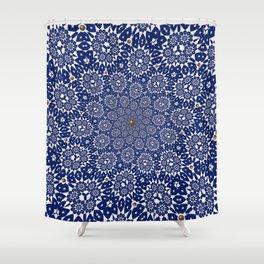 Bleu Gyre Royale Shower Curtain