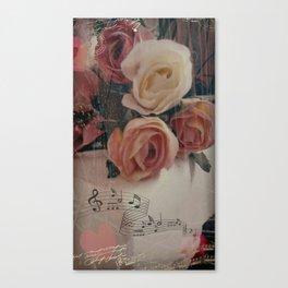 Roses & Music ... Canvas Print