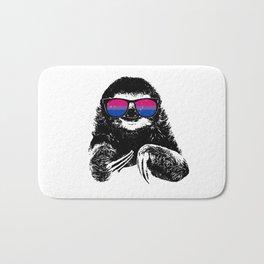 Pride Sloth Bisexual Flag Sunglasses Bath Mat