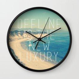 Offline is the new Luxury Vintage Beach Print Wall Clock