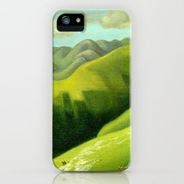 Mustering at the End of the Farm iPhone Case