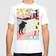 lost and found MEDIUM Mens Fitted Tee White