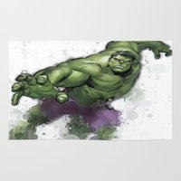 hulk Area & Throw Rugs featuring Hulk  by Isaak_Rodriguez