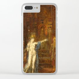 """Gustave Moreau """"Salome Dancing, known as Salome Tattooed"""" Clear iPhone Case"""