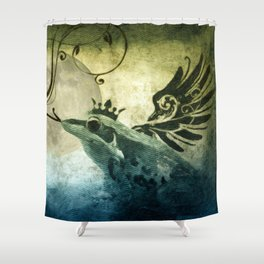 Frog Prince Midnight Fantasy Shower Curtain