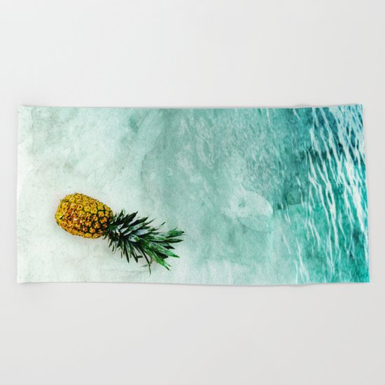 Alone in the Light Beach Towel