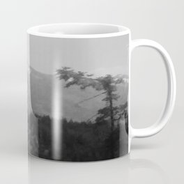 Snow Cap Mountain black and white Coffee Mug