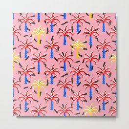 Pop art exotic palm trees Metal Print
