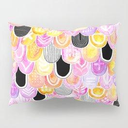 Citrus, Cotton Candy & Licorice Watercolor Scales Pillow Sham
