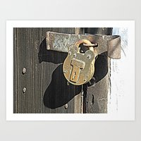 Rusted Lock Art Print