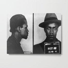 Malcolm X Mugshot Metal Print