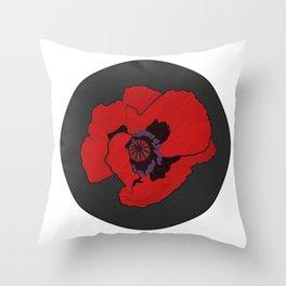 Poppy time Throw Pillow