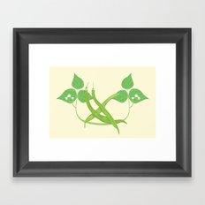Vegetable Tags: Green Beans Framed Art Print