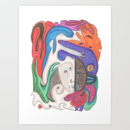 Drawing #71 Art Print