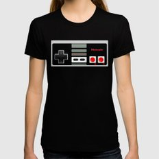 Classic retro Nintendo game controller iPhone 4 4s 5 5c, ipod, ipad, tshirt, mugs and pillow case Black Womens Fitted Tee MEDIUM