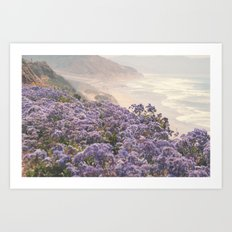 purple morning Art Print