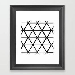 WHITE & BLACK TRIANGLES  Framed Art Print