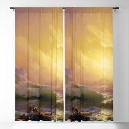 The Ninth Wave by Hovhannes Aivazovsky (1850) Blackout Curtain