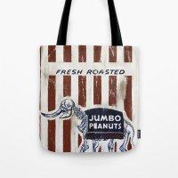 peanuts Tote Bags featuring Jumbo Peanuts by Carl Floyd Medley III