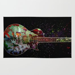 Sounds of music. Colorful guitar. Rug