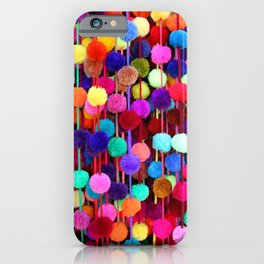 Rainbow Pom-poms (Vertical) iPhone Case