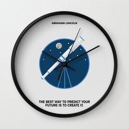 Lab No. 4 - The Future Is To Create It Abraham Lincoln Motivational Quotes Poster Wall Clock