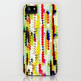 bohemian abstract pattern iPhone Case