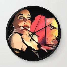 Snake Eyes Wall Clock