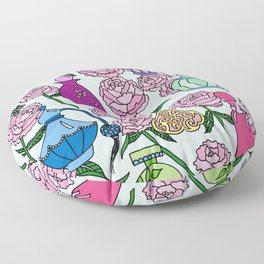 Perfume and Peonies Floor Pillow