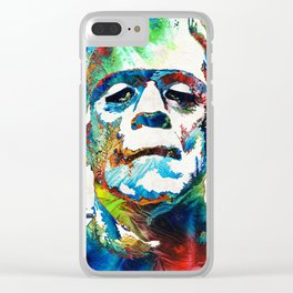 Frankenstein Art - Colorful Monster - By Sharon Cummings Clear iPhone Case