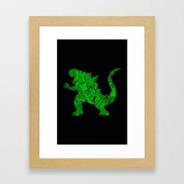 Godzilla - II Framed Art Print