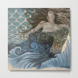 Mermaid Bliss Metal Print