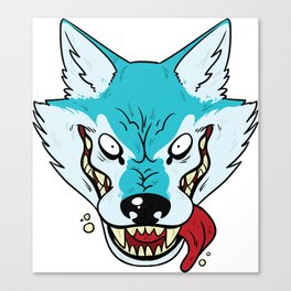 Who's Afraid of the Big Blue Wolf Canvas Print