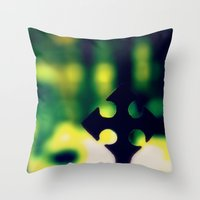 cross Throw Pillows featuring Cross by Leffan