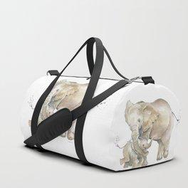 Mother's Love - Elephant Family Duffle Bag