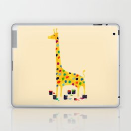 Paint by number giraffe Laptop & iPad Skin