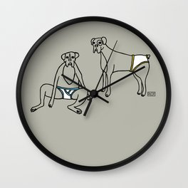 Boxers and Briefs Wall Clock