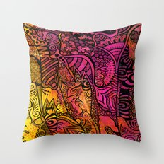 Tangled in the pink sunset Throw Pillow
