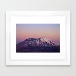 Mount Saint Helens at dusk Framed Art Print